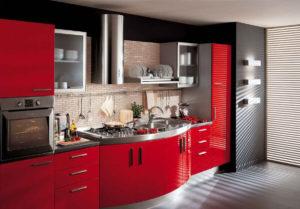Кухонный гарнитур покрытий ПВХ пленкой