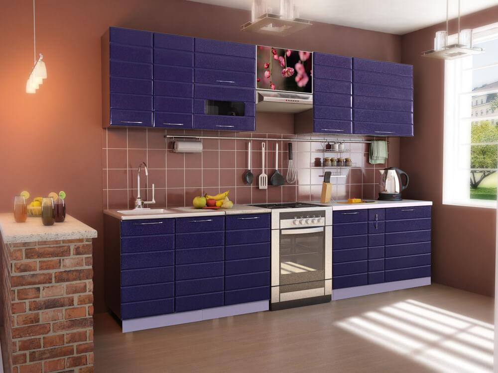 Фото кухонного гарнитура покрытого пленкой ПВХ