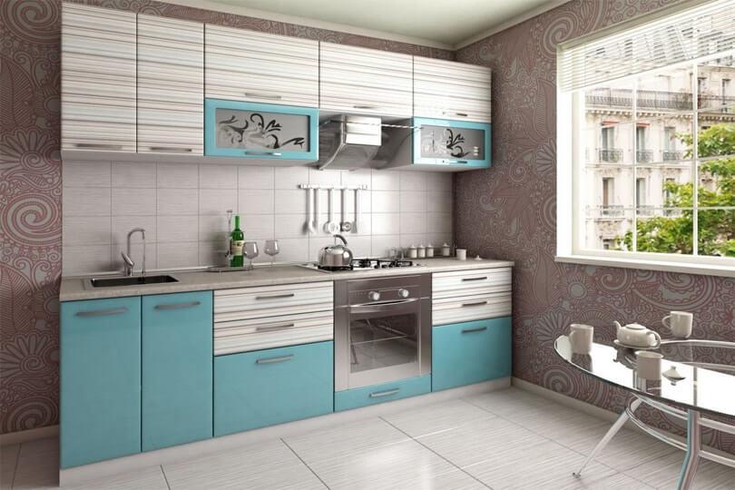 Фото кухонного гарнитура с ПВХ фасадами