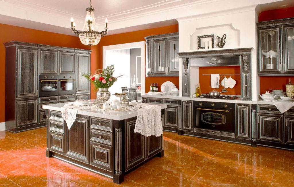 Фото кухни со встроенным порталом