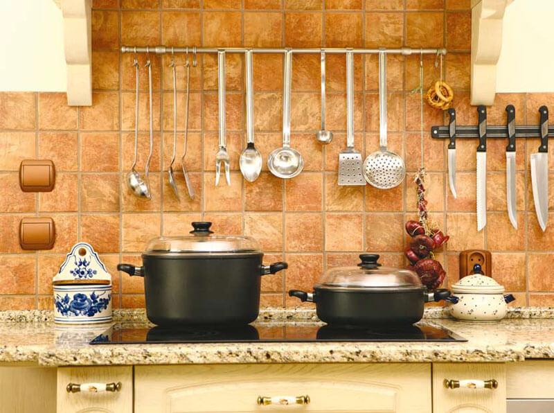 Фото кухонного фартука из керамической плитки