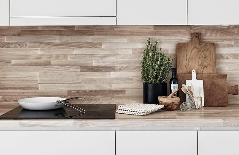 Фото ламинированного кухонного фартука
