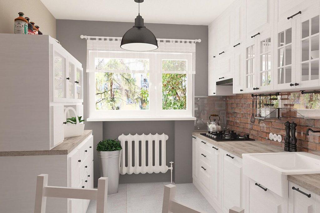 Кухонный гарнитур со стеклянными настенными панелями
