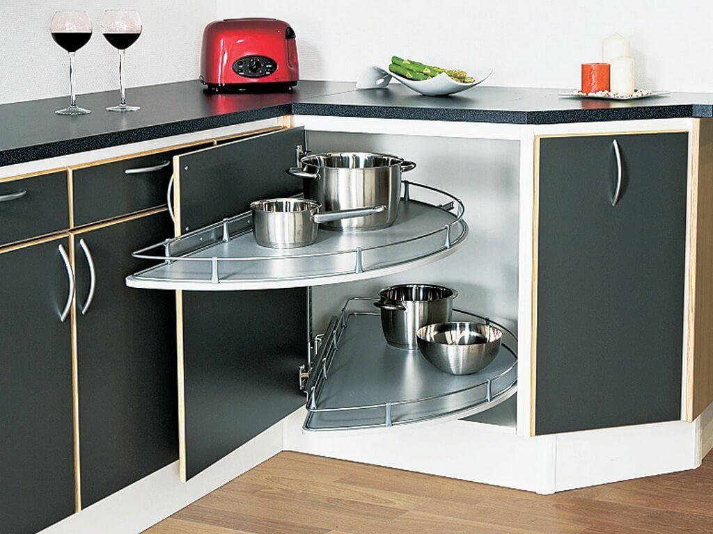 Фото углового шкафа кухонного гарнитура
