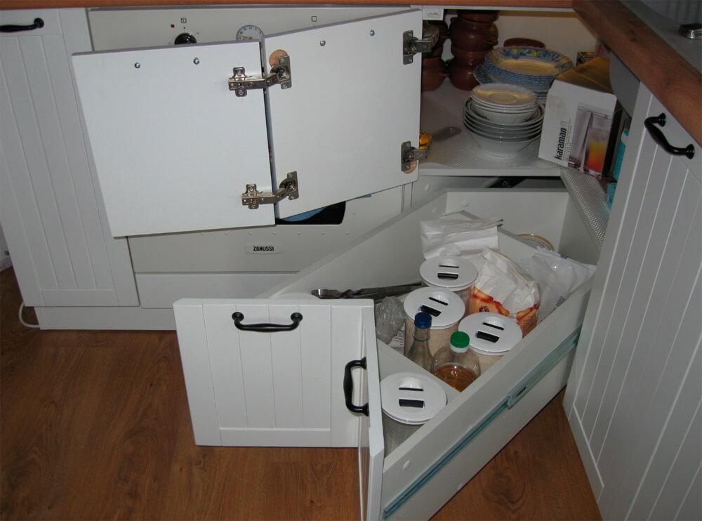 L-образная кухонная тумба