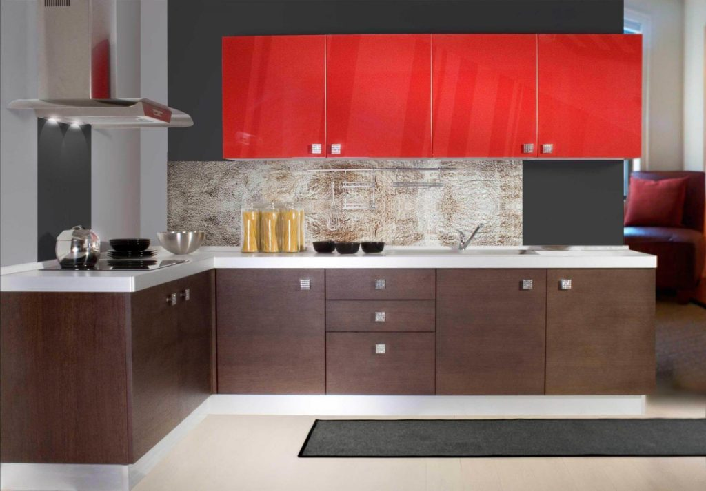 Современный угловой кухонный гарнитур