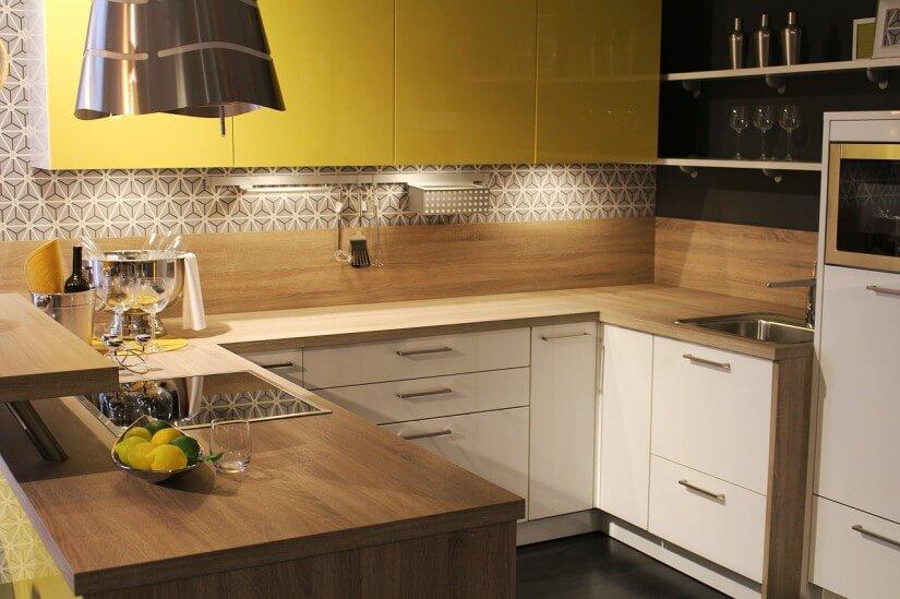 Фото П-образного интерьера кухни