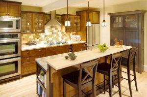 Фото кухонного острова с барной стойкой