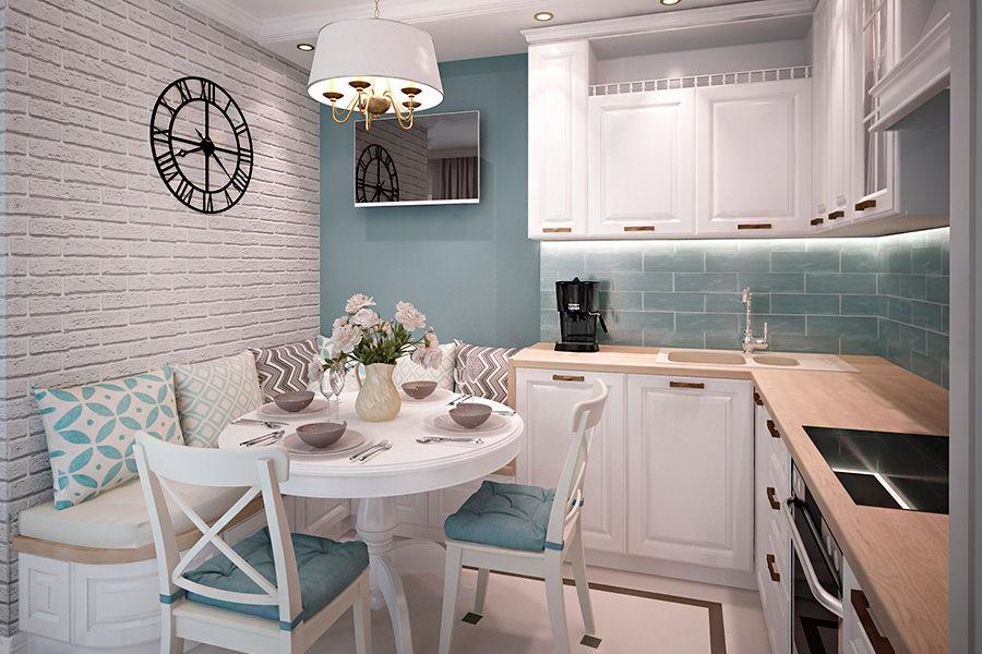Дизайн маленькой кухни с угловым гарнитуром