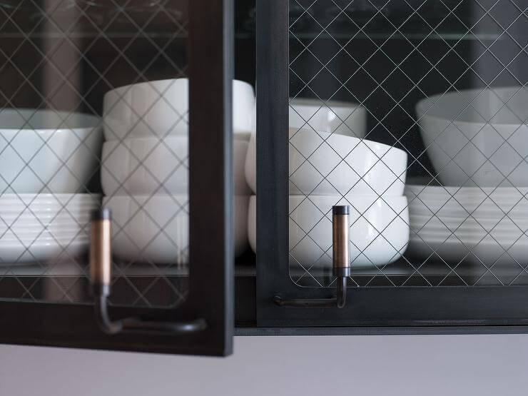 Фот стеклянного кухонного фасада