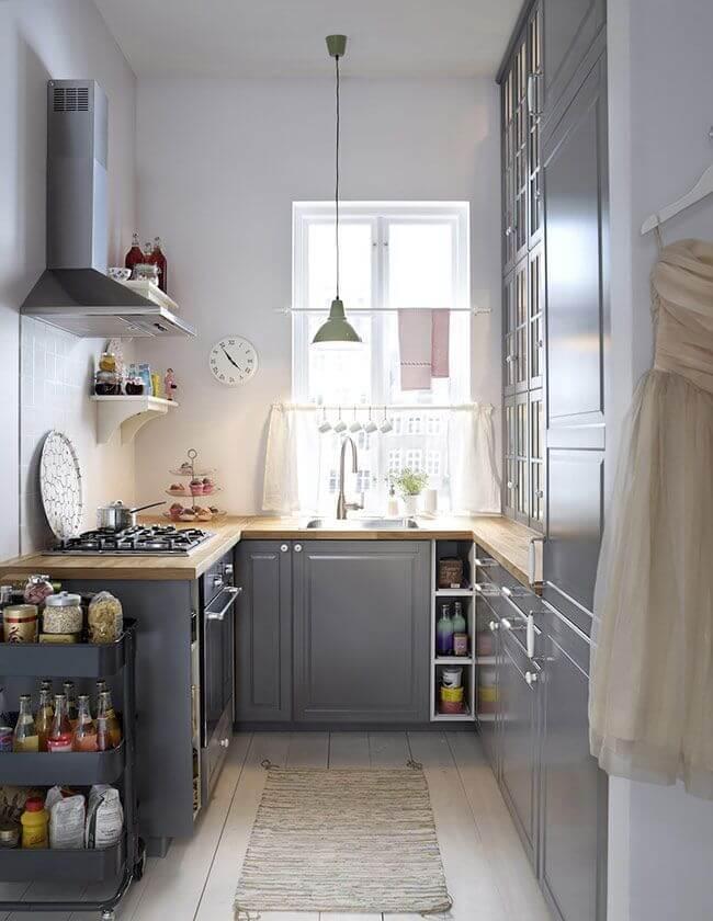 Фото крохотной кухни