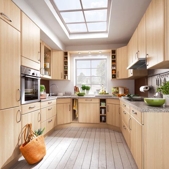 Фото П-образной планировка кухни