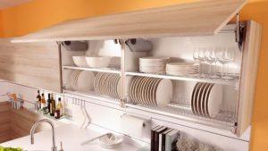 Фото навесного кухонного шкафа для посуды