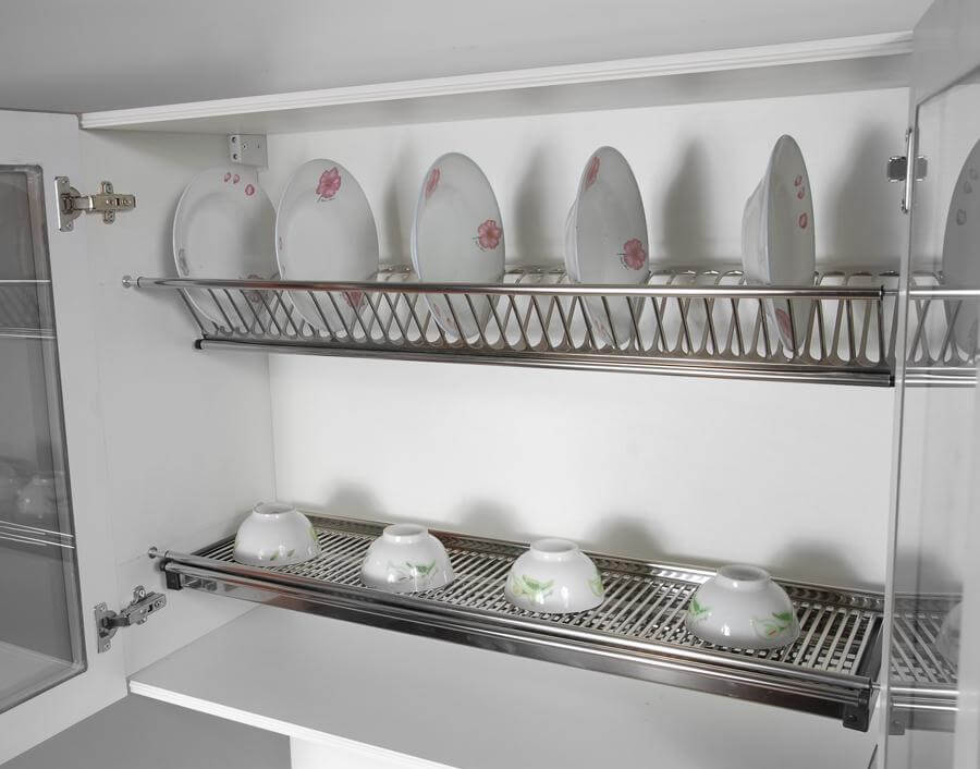 Сушилка для посуды с распашными фасадами