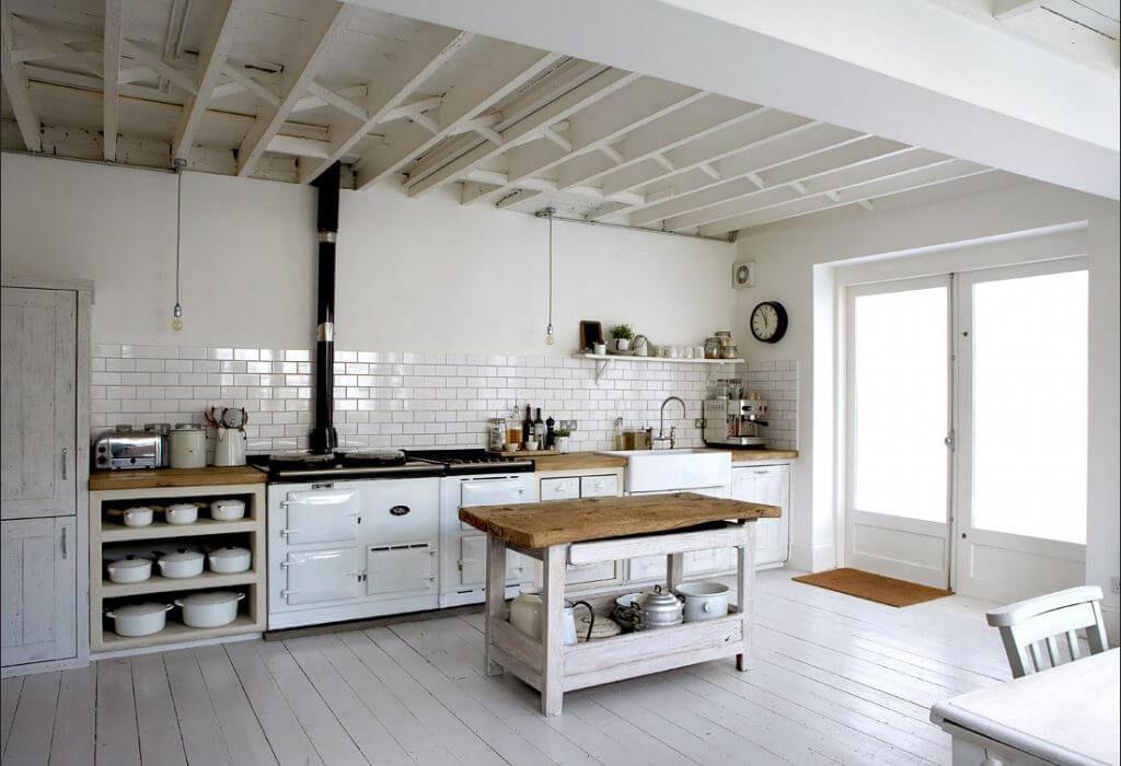 Фото кухни в Лофт стиле прямой планировки