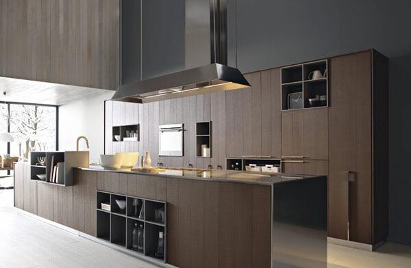 Фото двулинейной кухни