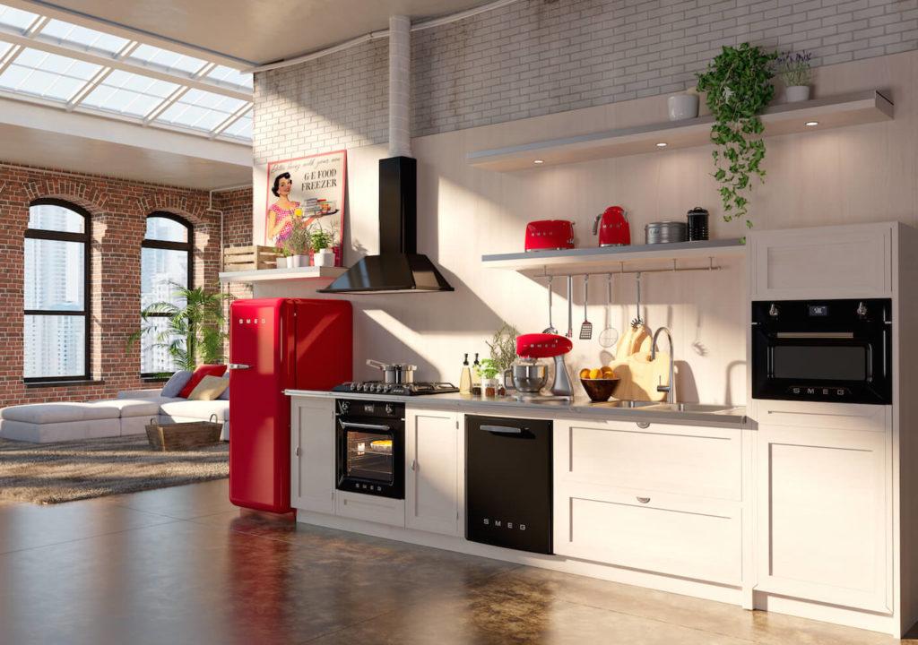 Кухня прямой планировки