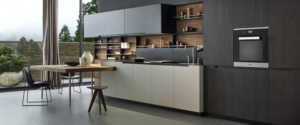 Фото современной линейной кухни