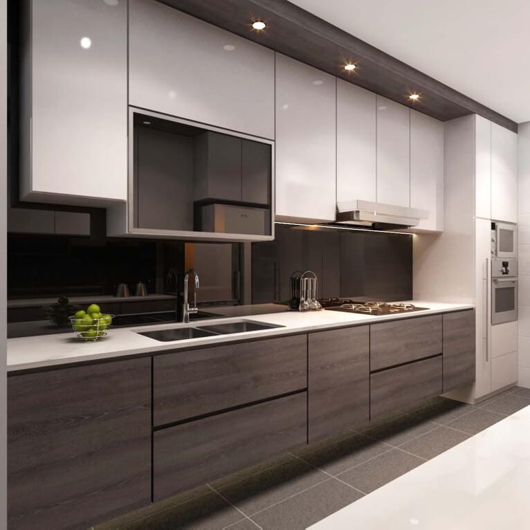 Фото кухонного гарнитура со встроенной техникой