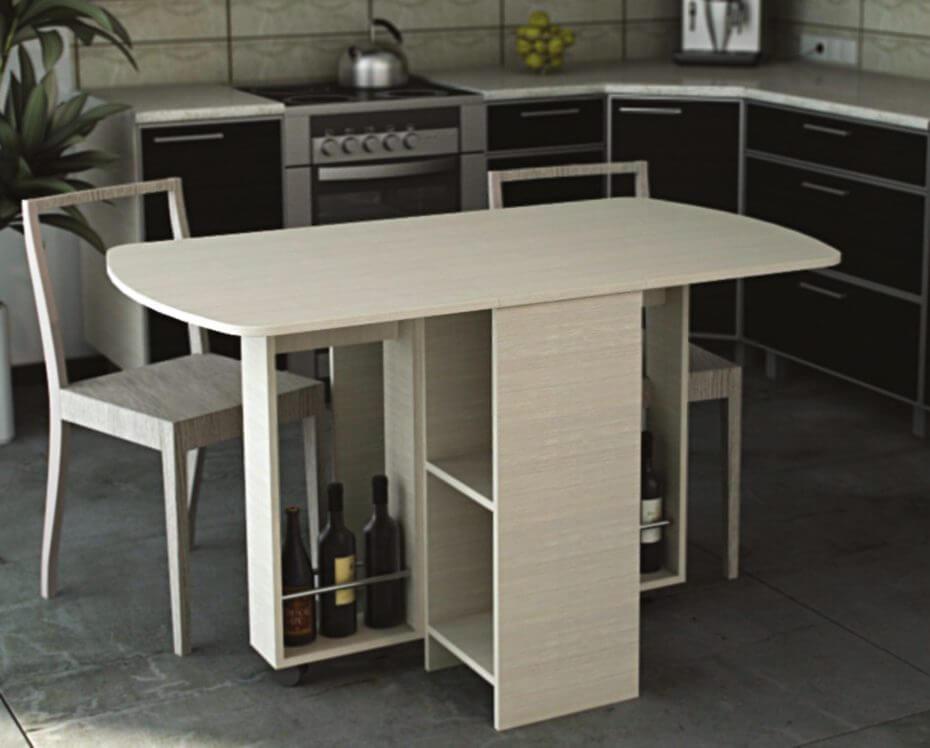Кухонный раскладной стол тумба