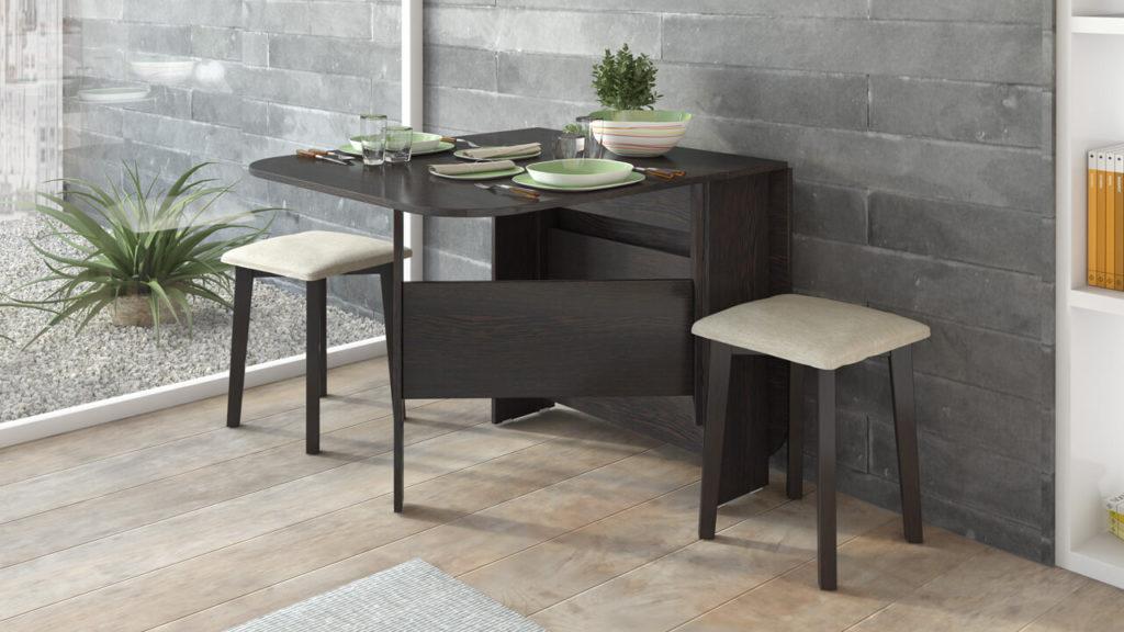 Стол-тумба в интерьере кухни