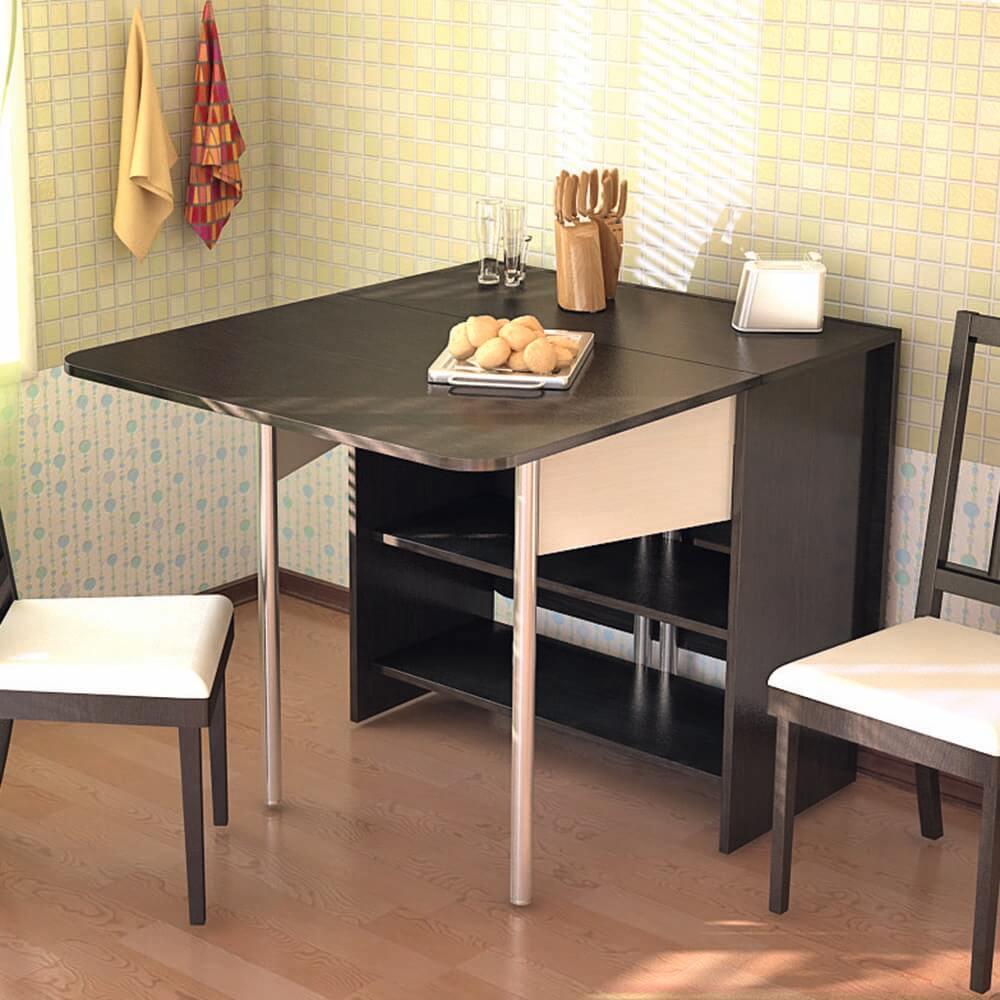 Кухонный стол тумба с хромированными ножками