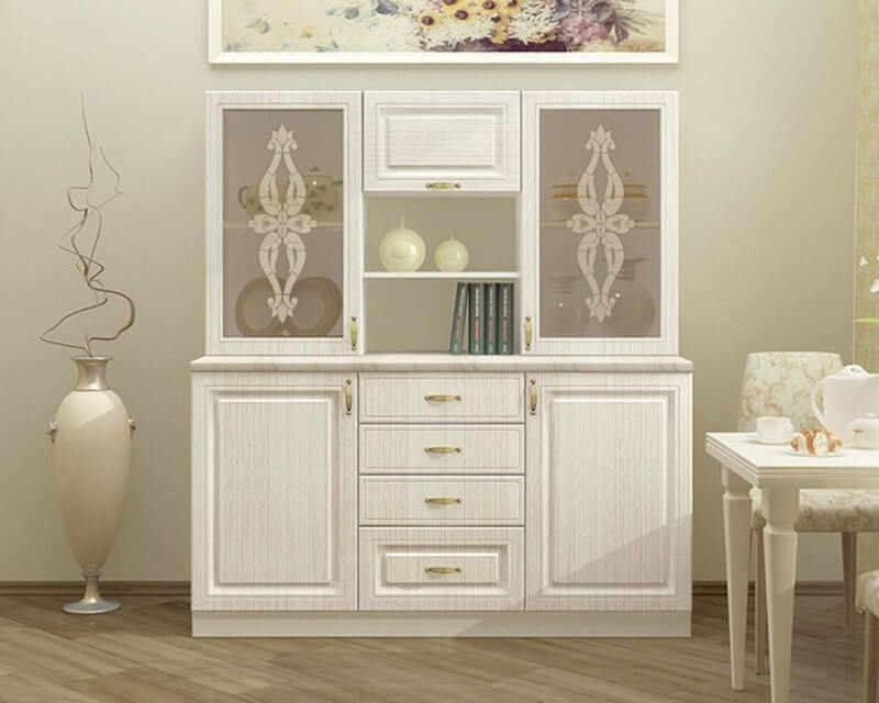 Декоративный шкаф для посуды