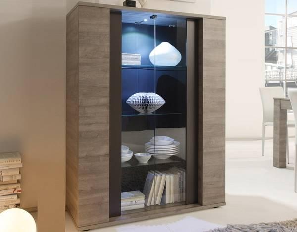 Декоративный шкаф витрина в стиле хай-тек