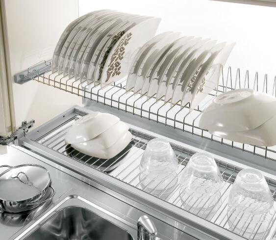Кухонный шкаф для посуды с сушилкой