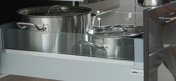 Кухонный шкаф для хранения кастрюль с выдвижным ящиком