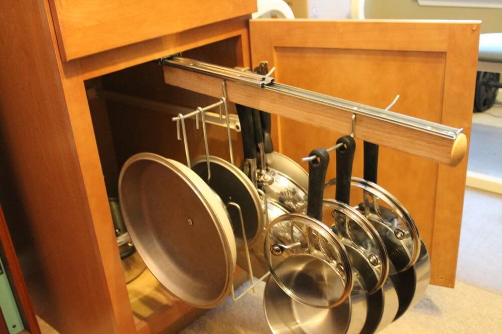 Выдвижная рейлинговая система для сковородок