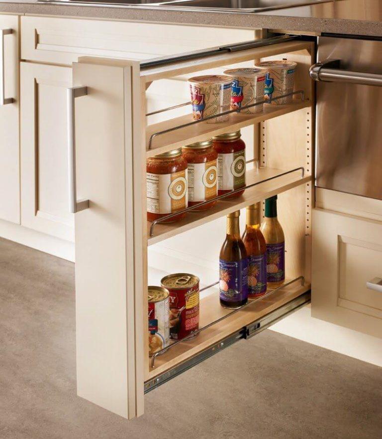 Узкий навесной шкаф на кухню