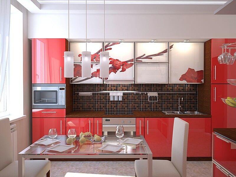 Кухонные фасады с рисунком