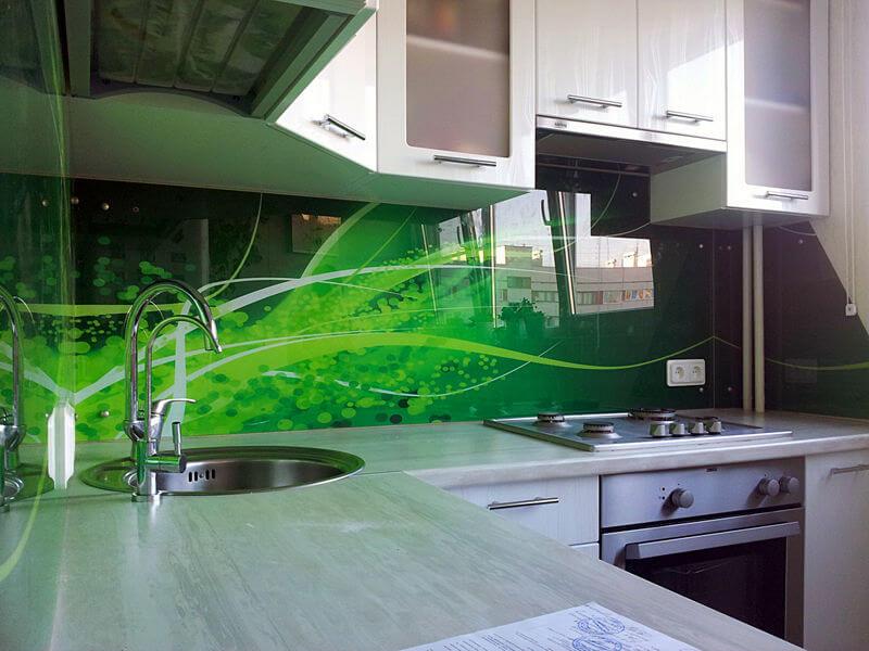 Стеклянные кухонные панели - скинали
