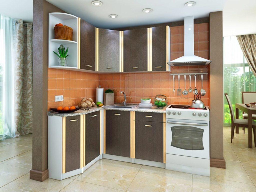 Кухонный гарнитур со стыковочными нижними тумбами
