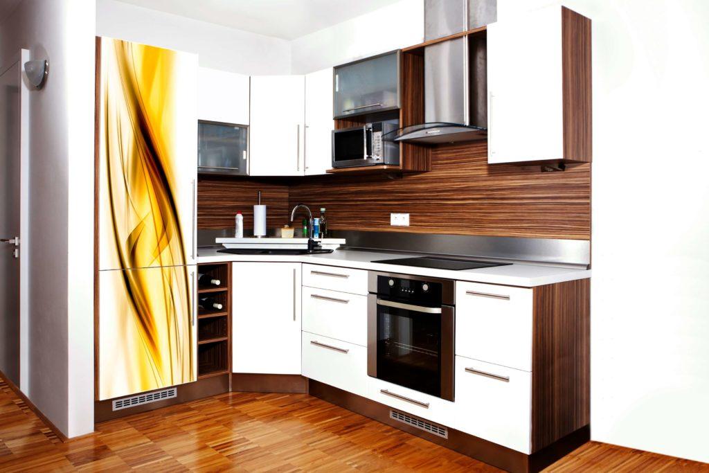 Фото встроенной угловой кухни