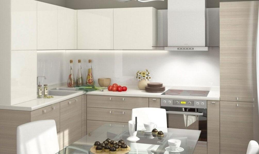 Угловая кухня в современном стиле
