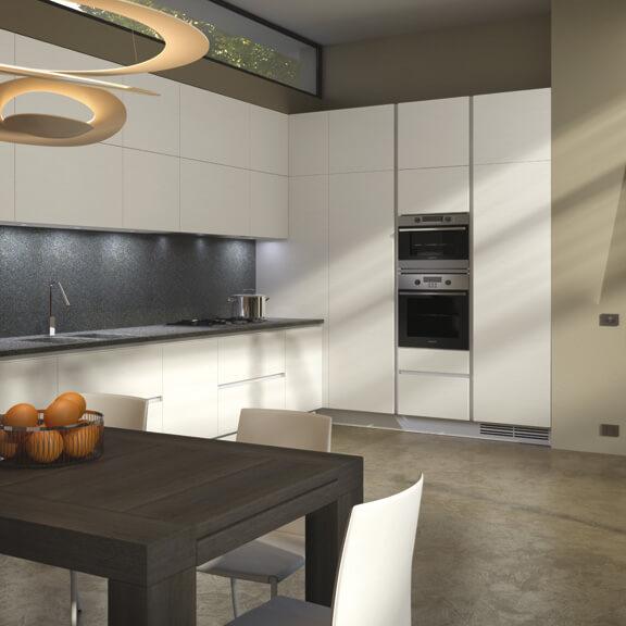 Фото угловой кухни со стыковочными шкафами