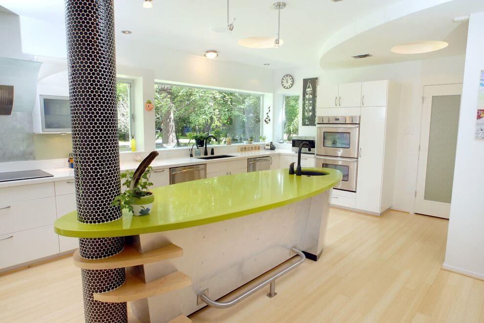 Барная стойка совмещенная с кухонным островом