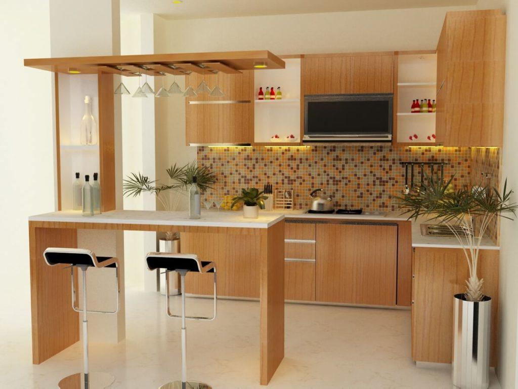 Барная стойка для кухни с открытым низом