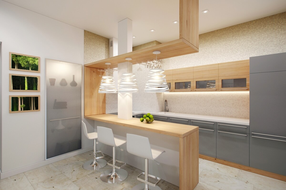 Фото красивых барных стоек для кухни