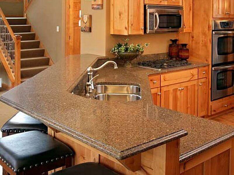 Барная стойка совмещенная с кухонным гарнитуром
