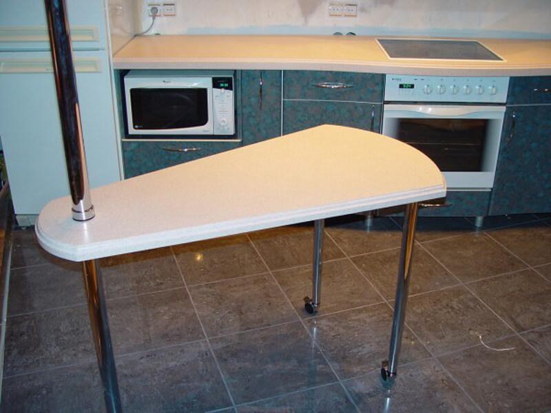 Поворотная барная стойка трансформер для кухни
