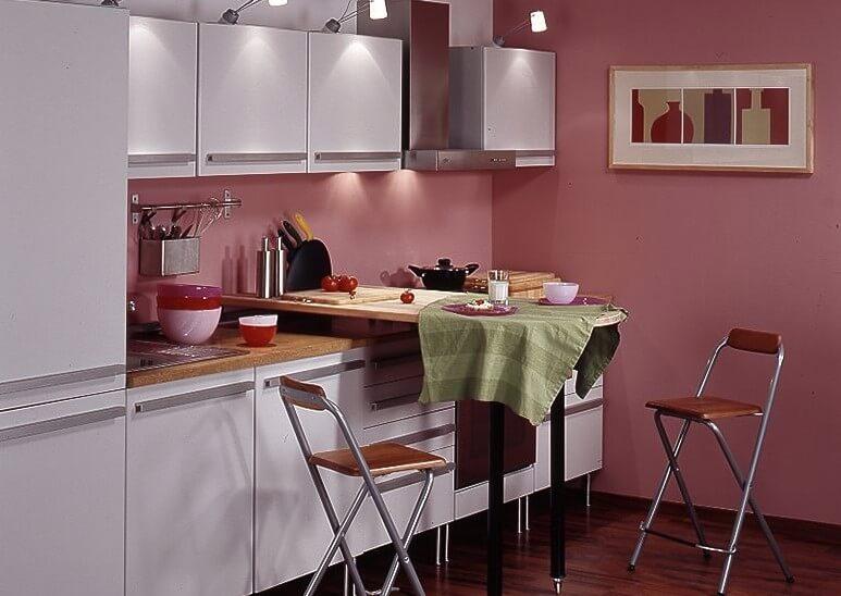 Фото барной стойки встроенной в кухонный гарнитур