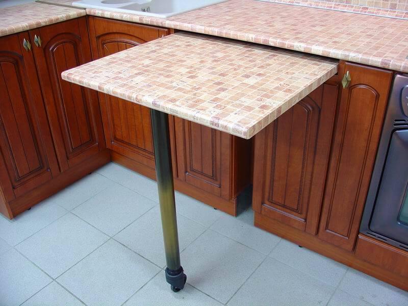 Выдвижная модель барнйо стойки встроенной в кухонный гарнитур
