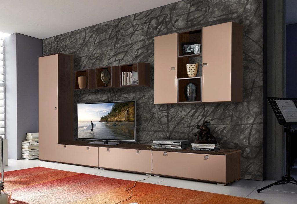 Фото современной стенки для гостиной