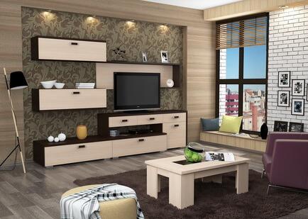 Комплект мебели для гостиной в интерьере