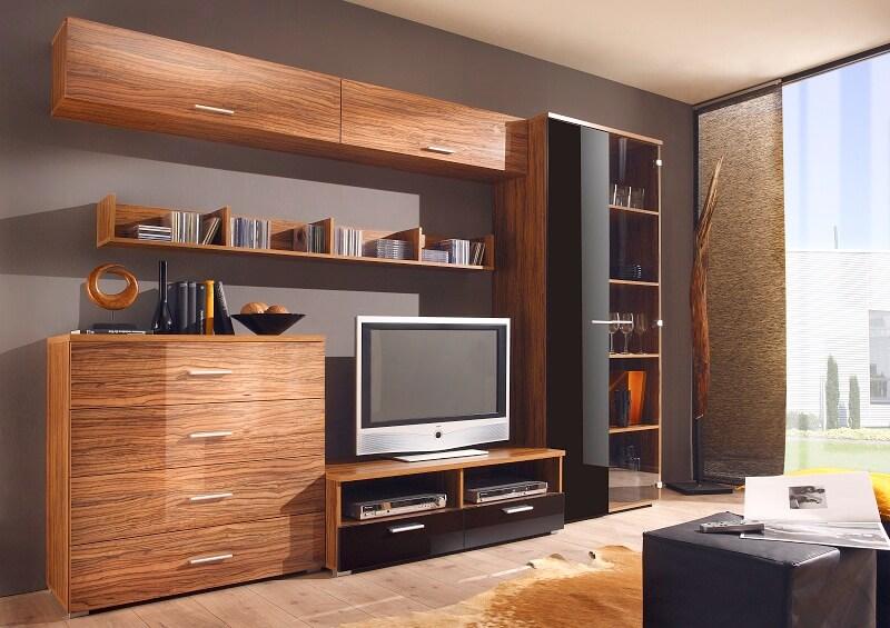 Мебель для гостиной с навесным шкафом