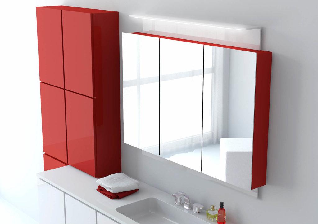 Фото навесного шкафа с зеркалом для ванной