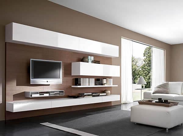 Мебель для гостиной с глянцевым фасадом